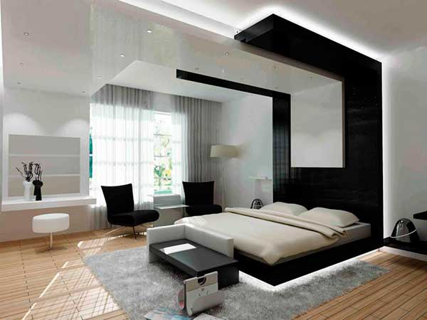 Black-And-White-Modern-Bedroom-Sets-With-Mattress