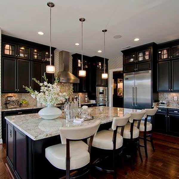 Classically-Modern-Black-Kitchen-Cabinets