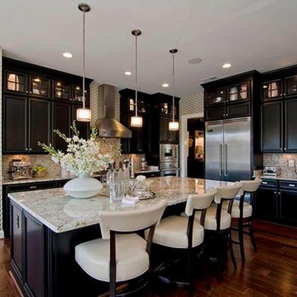 10 Beautiful Black Kitchen Cabinets Make Simple Design