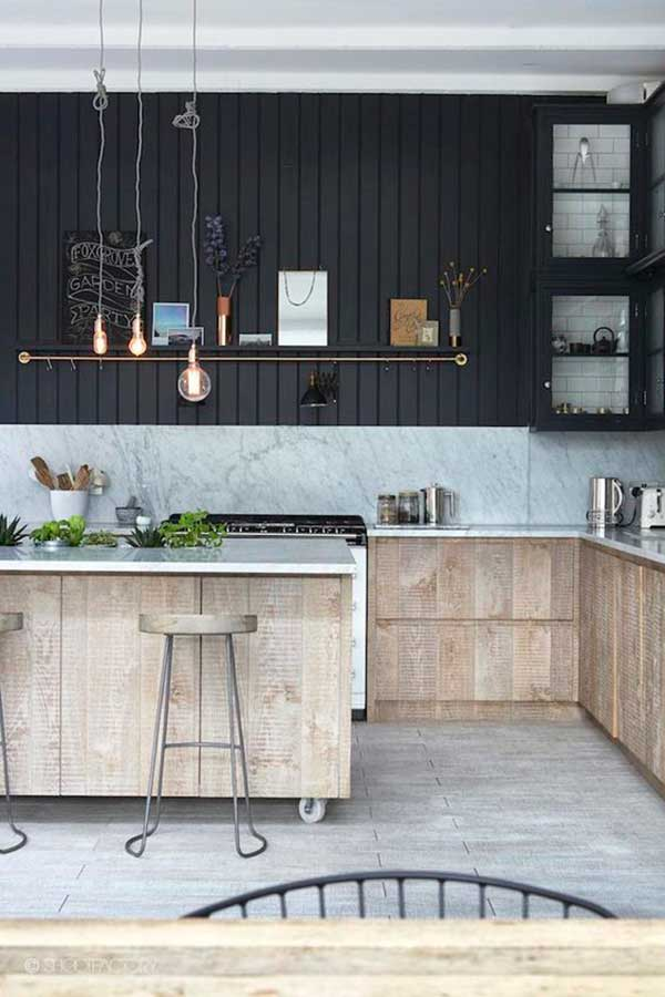 Contemporary-Black-Kitchen-Cabinet