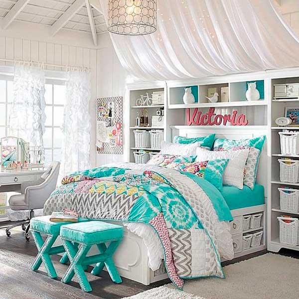 Girl\'s Bedroom Furniture Set - Make Simple Design