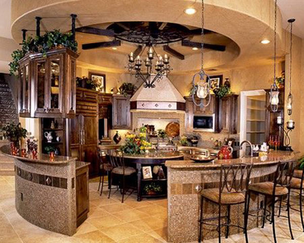 Round Kitchen Cabinet Design