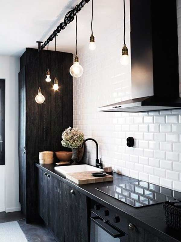 Rustic-Vintage-Black-Kitchen-Cabinet