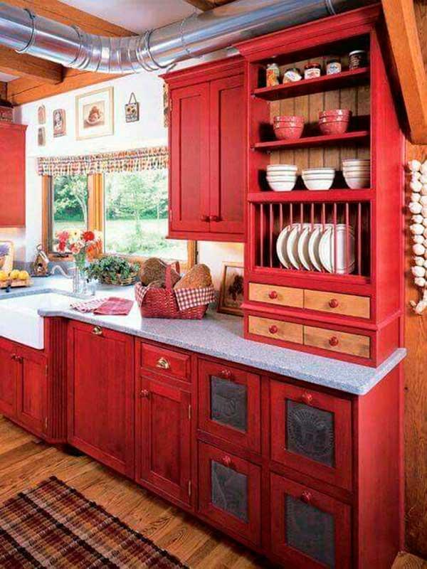 Vintage-Wood-Kitchen-Cabinet-Design