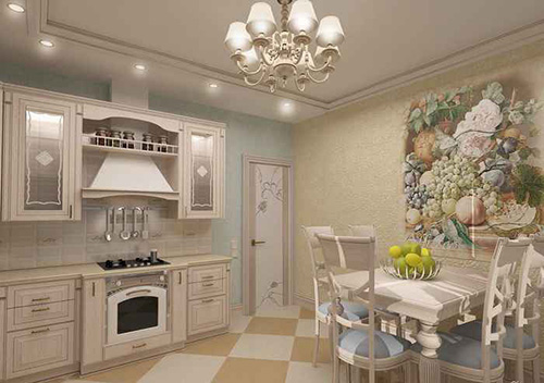 Classical White Kitchen Cabinets