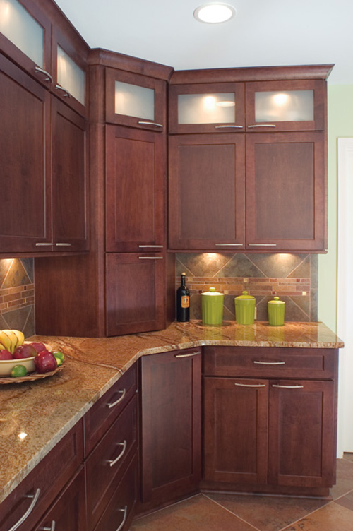 Contemporary Modern Wood Kitchen Cabinets