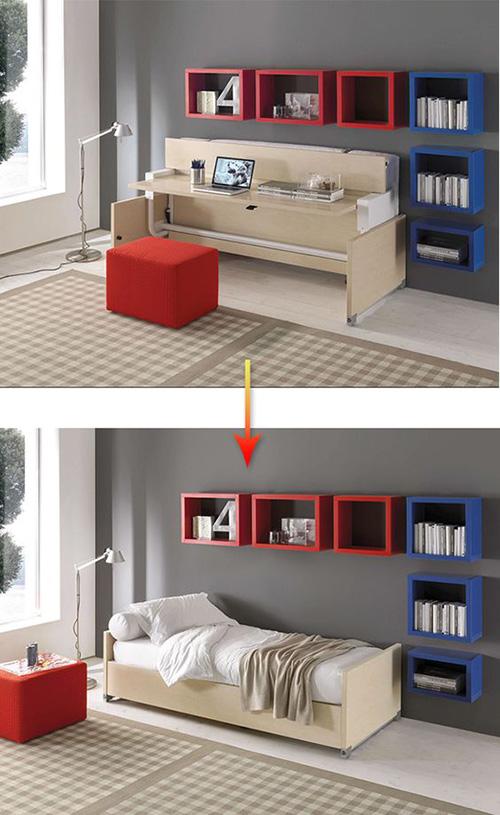 Smart and foldable bedroom furniture set make simple design for Smart furniture and decor