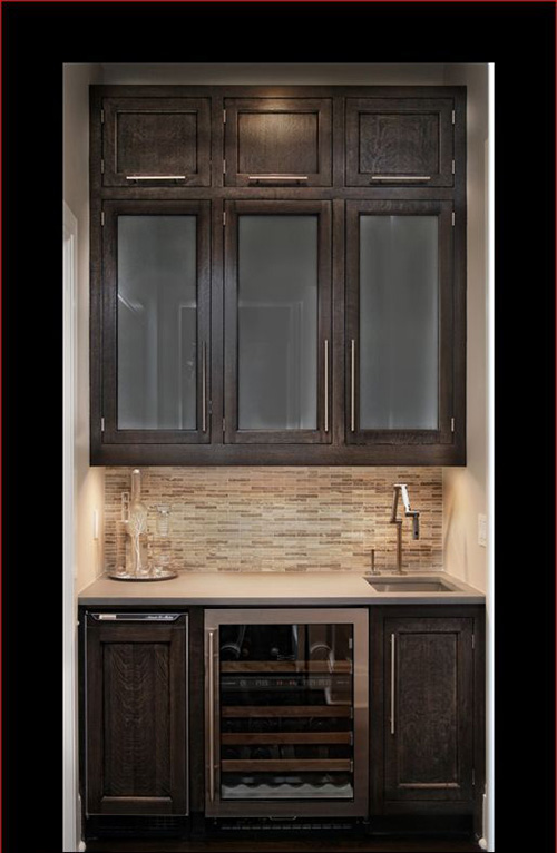 Conventional Wood Kitchen Cabinets