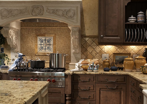 Light and Dark Kitchen Cabinets
