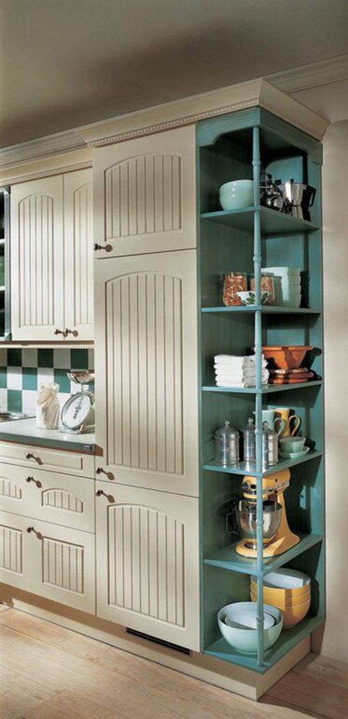 Retro Open Kichen Cabinets